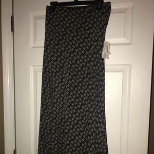 Lularoe print maxi skirt Medium NWT